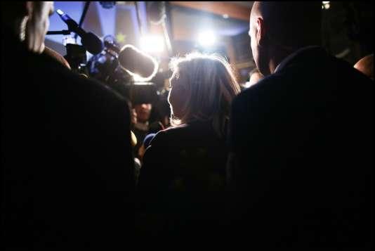 Marine Le Pen à Hénin-Beaumont, lors du second tour des élections régionales, le 13 décembre.
