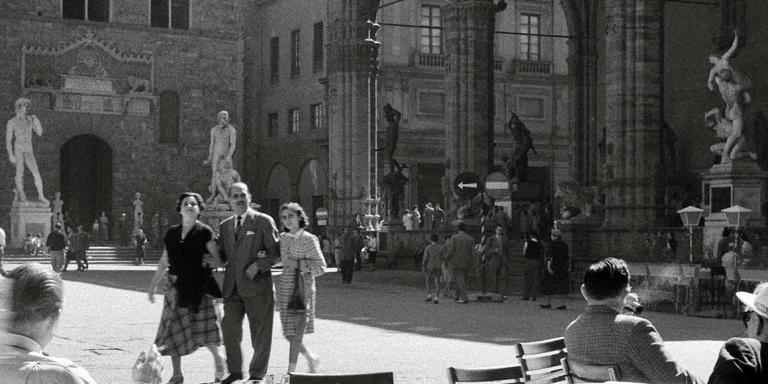 La piazza delle Signoria dans les années 1950.