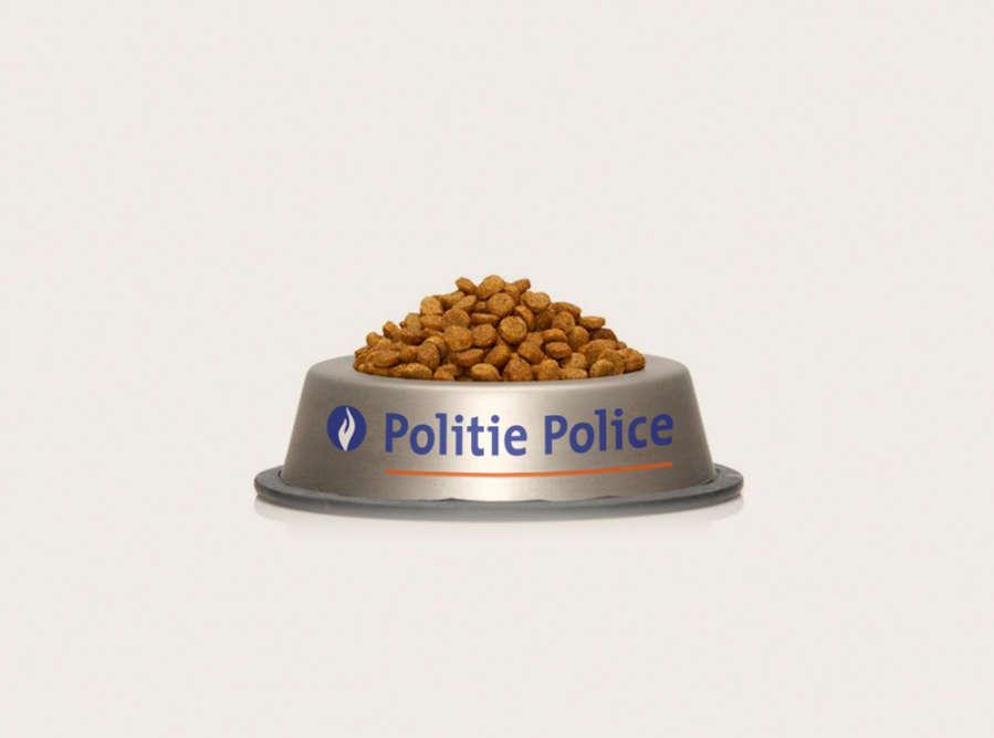 Pour remercier les internautes d'avoir joué le jeu, la police fédérale belge a tweeté, peu après minuit, cette photo d'une gamelle pleine de croquettes: «Pour les chats qui nous ontaidés hier soir… Servez-vous!»