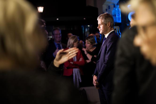 Laurent Wauquiez à Lyon lors du second tour des élections régionales le 13 décembre 2015.