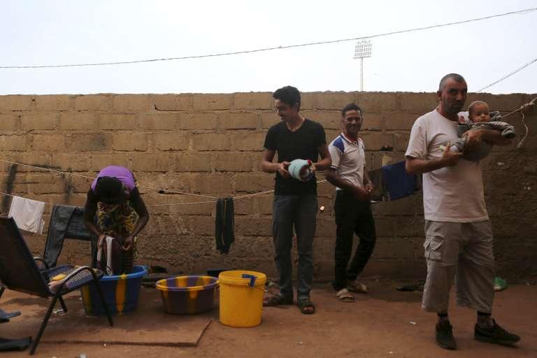 A Bamako, à la mi-décembre 2015. Des Syriens qui ont fui le régime meurtrier de Damas ont trouvé refuge au Mali.