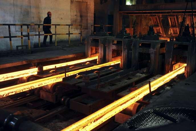 Dans une usine sidérurgique de Hefei en Chine, en mars 2012.