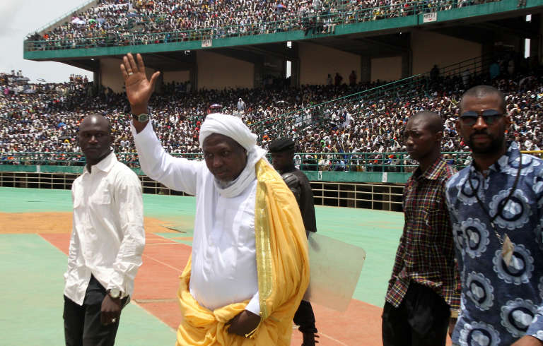 L'imam Mahmoud Dicko préside le Haut Conseil islamique malien (HCIM) depuis 2007. Ici, à Bamako, lors d'un meeting, le 12 août 2012.