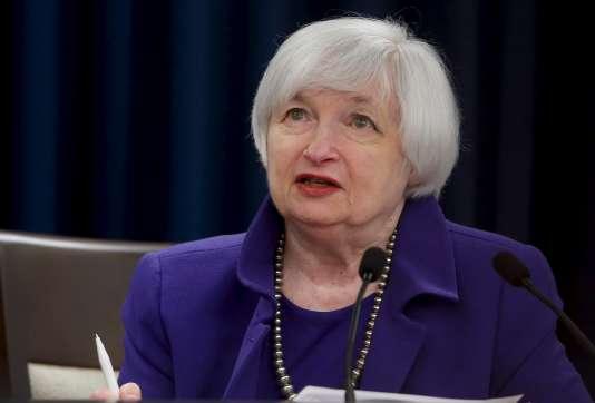 Janet Yellen, la présidente de la Fed, le 16 décembre, à Washington.