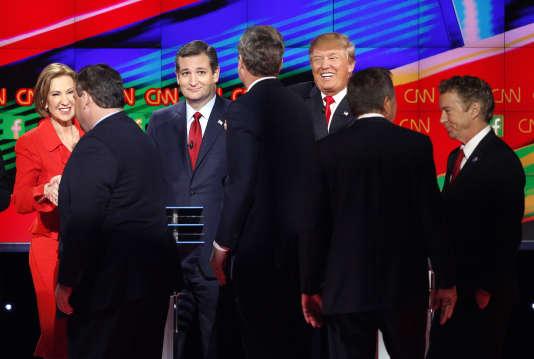 Neuf candidats à l'investiture du parti républicain pour la présidentielle de 2016 ont débattu le 15 décembre à Las Vegas.