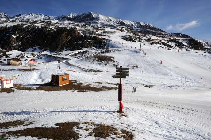 La station de l'Alpe d'Huez, le 16 décembre 2015.