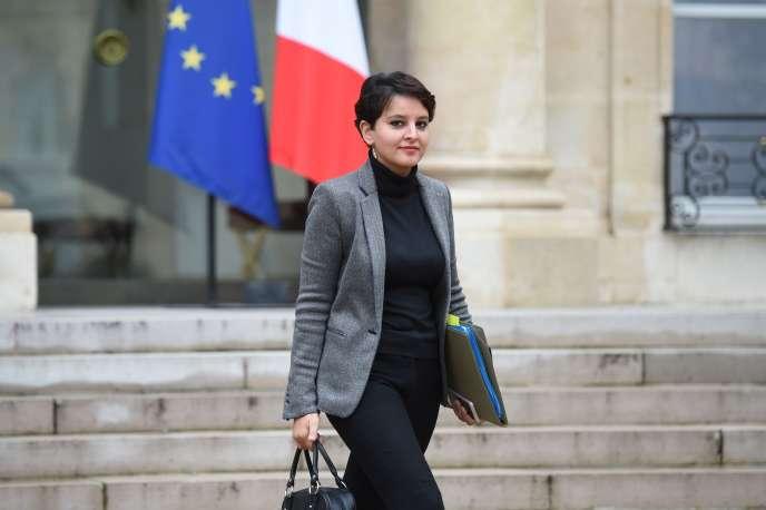 La ministre de l'éducation nationalen Najat Vallaud-Belkacemn, à l'Elysée, le 16 décembre.