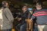 Au Café  du marché,  à Hirson (Aisne), le 14 décembre.Jugurta (pseudo), kabyle de 60 ans, discute politique avec José (pseudo), 40 ans, et Maurice Boute, 65 ans.