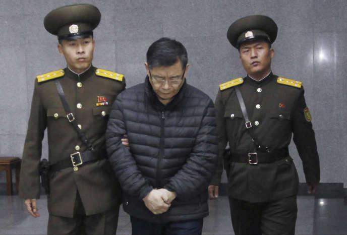 Hyeon Soo Lim lors de son procès, à Pyongyang, le 16 décembre 2015.