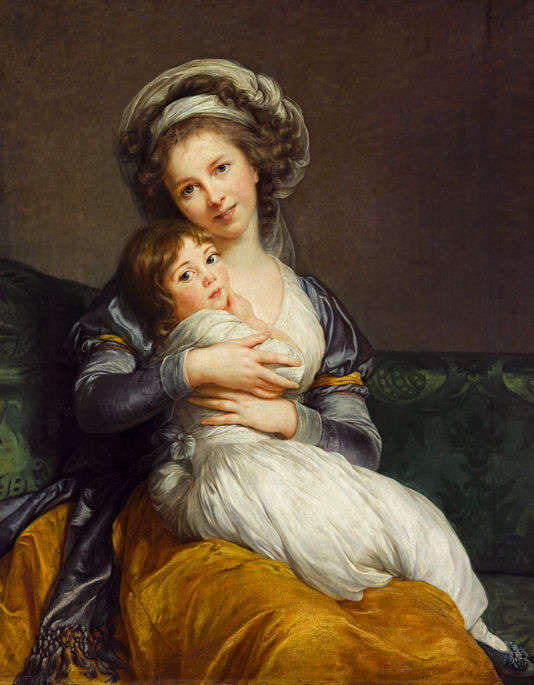 """Elisabeth Vigée-Lebrun, portrait de l'artiste avec sa fille, dit """"La Tendresse maternelle"""", 1786."""