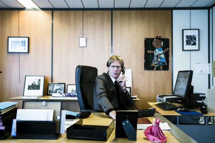 Pascal Brice, directeur géneral de l'Ofpra, à Fontenay-sous-Bois, le 22 septembre.