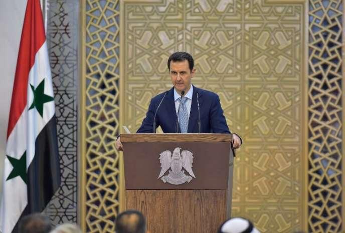Le président de la Syrie, Bachar Al-Assad, le 26 juillet 2015.