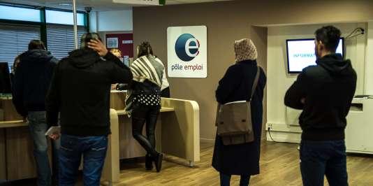 Une agence Pôle emploi à Lille, le 16 décembre 2015.