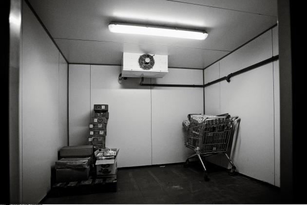 La chambre froide de l'Hyper Casher, où une partie des otages a trouvé refuge.
