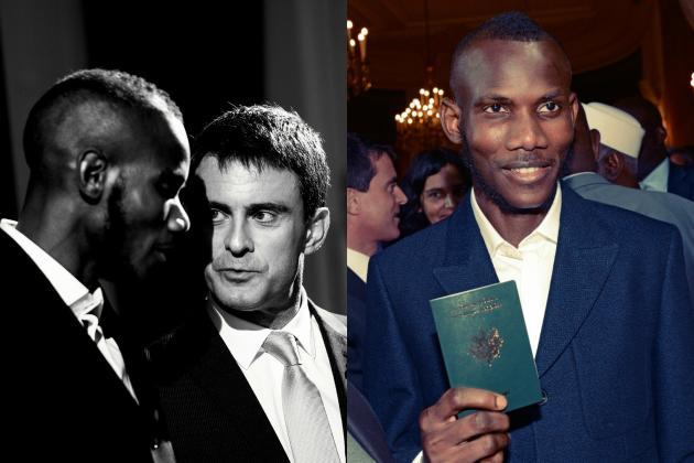 Après l'Hyper Cacher, Lassana Bathily s'est vu remettre son passeport français lors d'une cérémonie avec Manuel Valls.