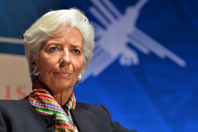 Christine Lagarde, le 8 octobre 2015, à Lima