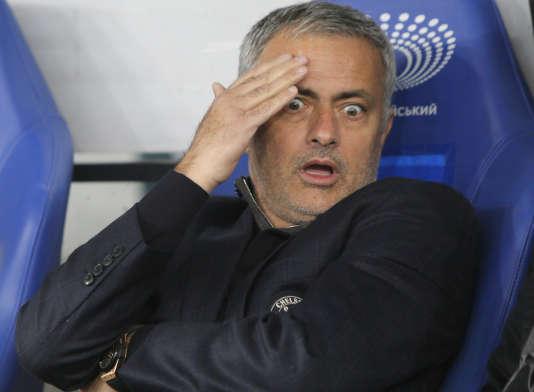 José Mourinho, le 20 octobre à Kiev en Ligue des champions.