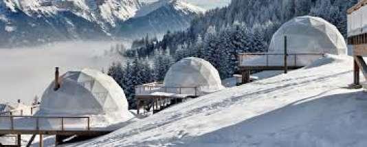 Whitepods, drôle d'igloos en Suisse, dans le Valais