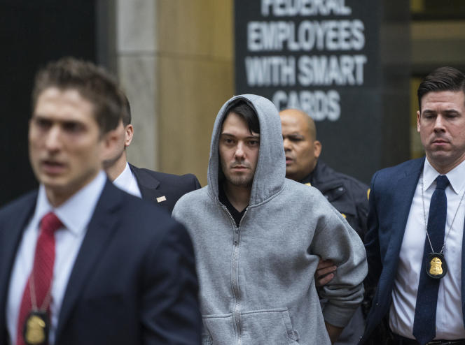 Martin Shkreli, flamboyant entrepreneur du secteur pharmaceutique, arrêté le 17décembre 2015 à New York.