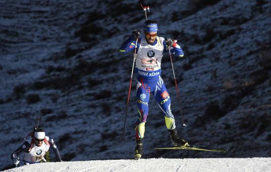 Martin Fourcade en Autriche le 13 décembre.