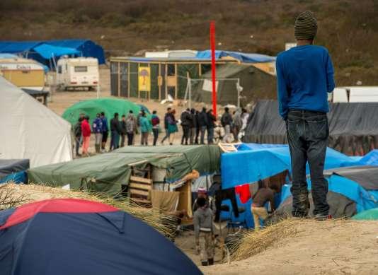 """Dans la """"jungle"""" de Calais, le 17 décembre."""