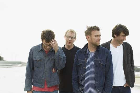 Le groupe de rock anglais Blur, en 2012.