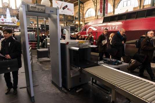 L'un des quais de la gare du Nord, à Paris, où arrivent les Thalys, jeudi 17 décembre.