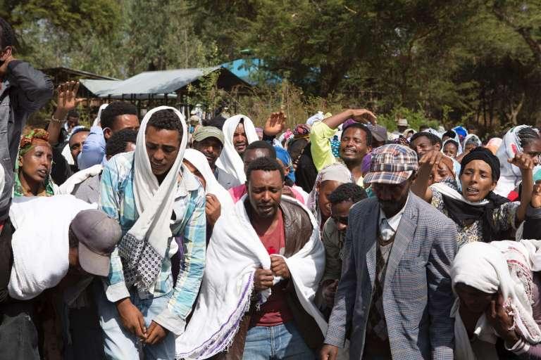 Manifestation après la mort de Dinka Chala, un Oromo tué dans le village de Yubdo, à 100 kilomètres d'Addis-Abeba, le 17 décembre.