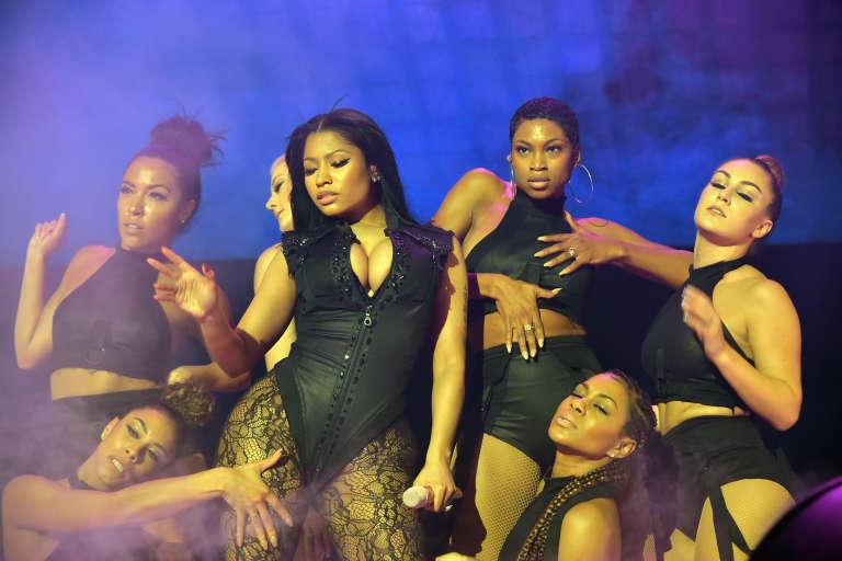 Nicki Minaj sur scène le 20 octobre 2015 au Barclays Center de Brooklyn.