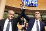 Jean Guy Talamoni et Gilles Simeoni à Ajaccio le 17 décembre 2015.