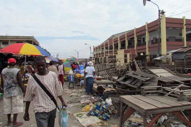 Sur un marché de Brazzaville, le 24 octobre 2015.
