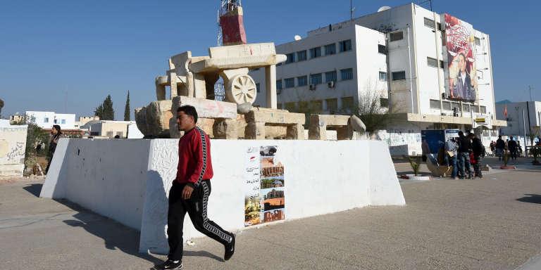A Sidi Bouzid, le square Mohamed Bouazizi, le 14 décembre 2015.