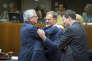Jean-Claude Junker, le président de la Commission européenne (à gauche), et Donald Tusk, le président du Conseil européen, à Bruxelles, en décembre 2015.
