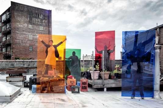 """""""Optimists Filters"""" (2015), de Corrie Baldauf, pour l'exposition sur Détroit à la gare Saint-Sauveur de Lille."""