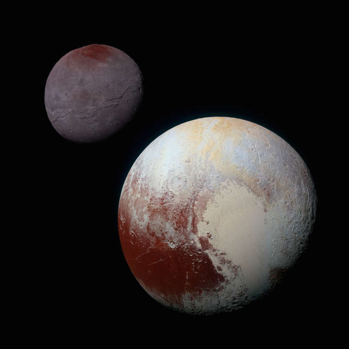 Pluton et sa lune, Charon.