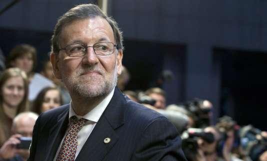 Le premier ministre espagnol, Mariano Rajoy, à Bruxelles, jeudi 17 décembre 2015.