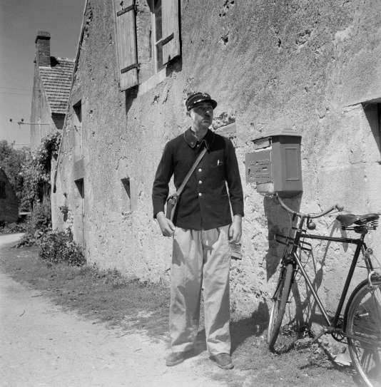 """Jacques Tati dans """"Jour de fête"""" (1949)."""