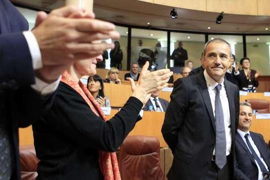 Jean-Guy Talamoni à l'Assemblée de Corse à Ajaccio, le 17 décembre.