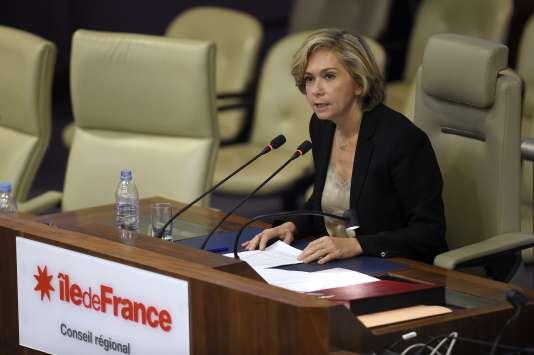 Valérie Pécresse, présidente de la région Ile-de-France, en décembre 2015.