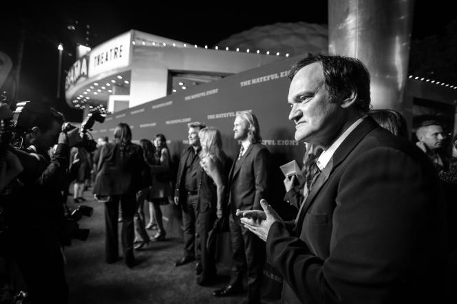 Quentin Tarantino à l'avant-première de son film