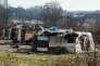 Un bidonville près de Toulouse, en mars 2013.