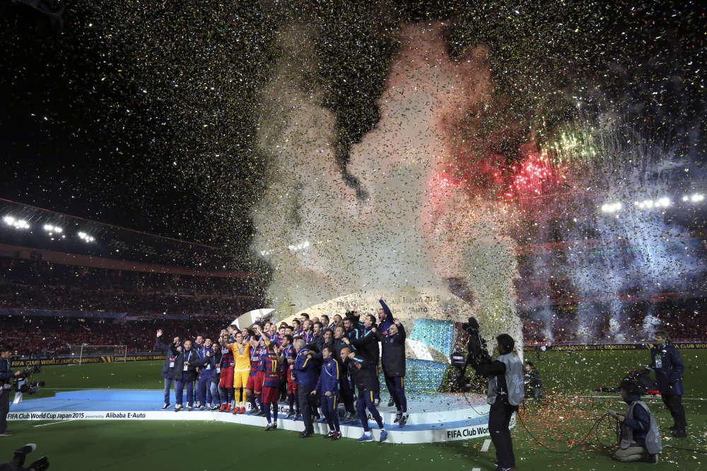 Et de 5. Le FC Barcelone est devenu «champion du monde des clubs» en battant les Argentins de River Plate (3-0). Le cinquième titre de la saison pour l'équipe, qui domine le monde.