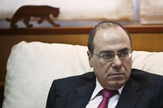 Le ministre de l'intérieur Silvan Shalom lorsqu'il occupait encore le portefeuille de l'énergie, en mai 2013.