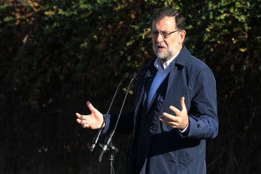 Le chef du gouvernement espagnol Mariano Rajoy à Madrid, le 20 décembre.