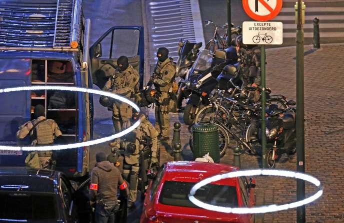 Opération de police à Bruxelles, le dimanche 20 décembre.