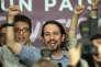 Pablo Iglesias, chef de file de Podemos, dimanche 20 décembre, à Madrid. La formation de la gauche alternative disposera de 90 députés.