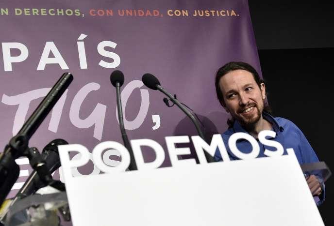 Le leader de Podemos, Pablo Iglesias, à Madrid, le 21 décembre.