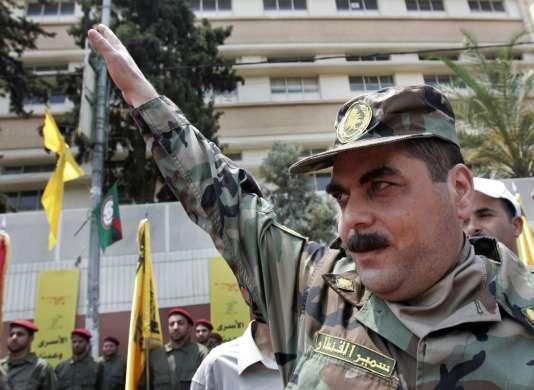 Samir Kantar après sa libération des prisons israéliennes, en 2008, lors d'un échange entre l'Etat hébreu et le Hezbollah.