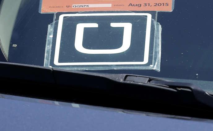 La voiture d'un chauffeur Uber à San Francisco, en 2015.