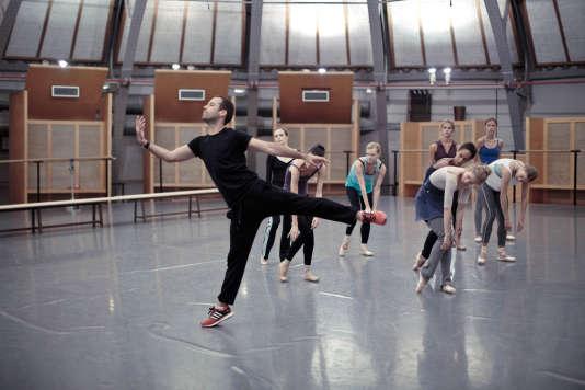 Répétition de Benjamin Millepied au Palais Garnier.